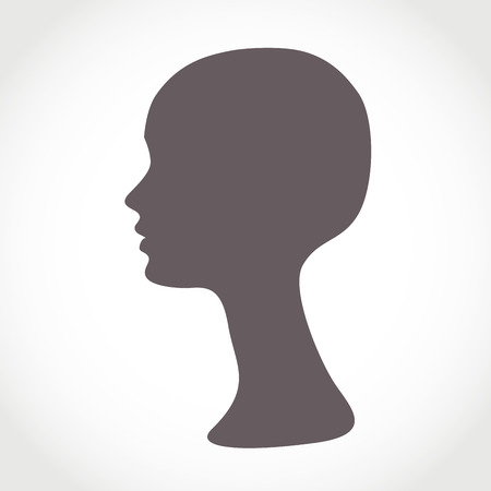 Mannequin Female Head. Basis for Wig Vector