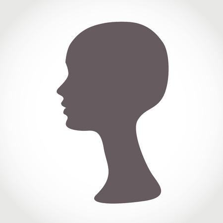 Mannequin Tête de femme. Base de perruque
