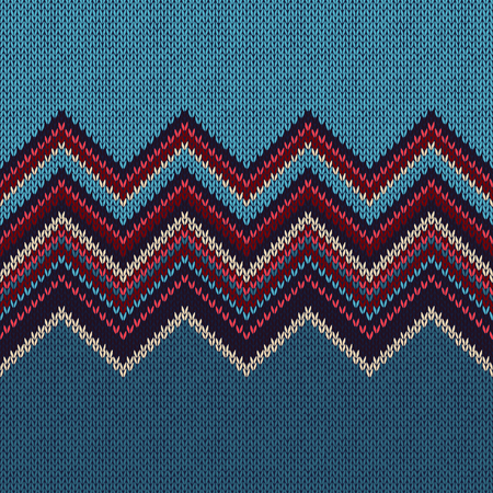 african grey: Fashion Color Swatch. Style Horizontally Seamless Knitted Pattern Illustration