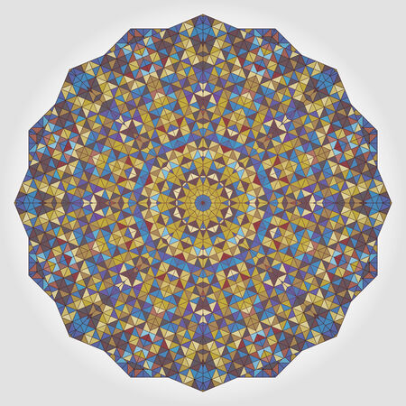 dominant color: Abstract Flower. Creative Colorful style vector wheel. Lilac Violet Brown Yellow Blue White  Dominant Color