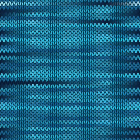 checkered scarf: Style Seamless Knitted Melange Pattern. Blue Black Color Vector Illustration