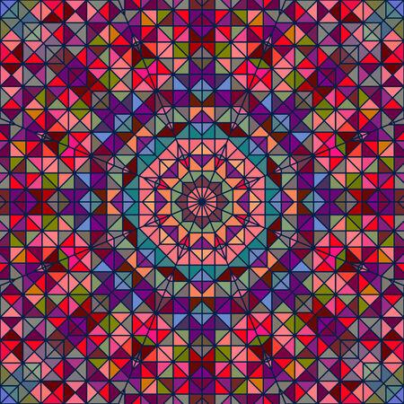 tucker: Abstract Colorful Digital Decorative Flower Star. Geometric Contrast Line Trendy Banner.  Illustration