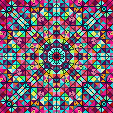 tapis: Abstract Colorful Digital Decorative Flower Star. Geometric Contrast Line Trendy Banner.