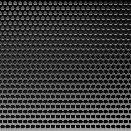 perforated surface: Perforated Metal Template. Translucent Grid Background. Vector Illustration Illustration