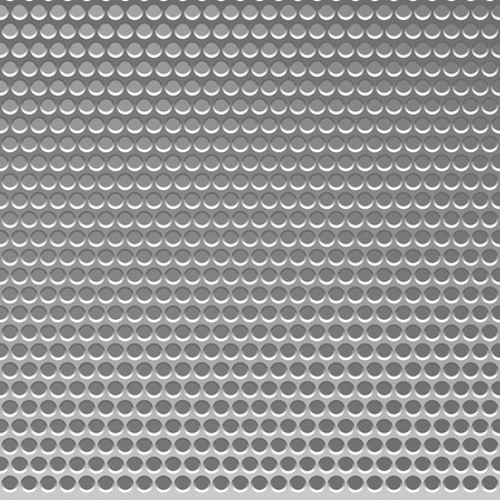 metal grid: Perforated Metal Template. Translucent Grid Background. Vector Illustration