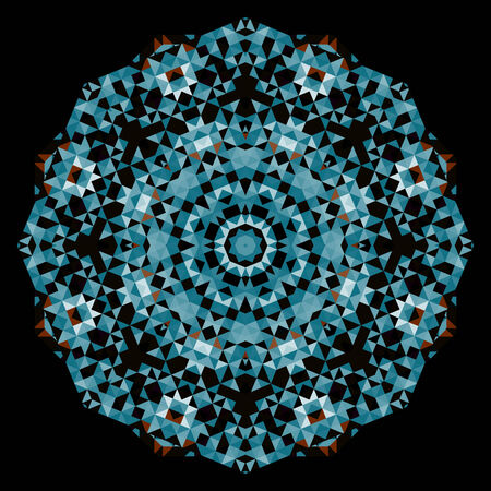 dominant color: Abstract Flower. Creative Colorful style vector wheel. Blue Black Dominant Color