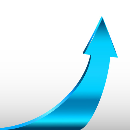 three points: Cyan arrow and white background Illustration