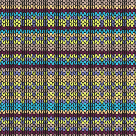color swatches: Seamless knitted pattern. Multicolored repeating tribal template
