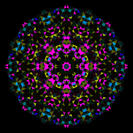 dominant color: Abstract Flower. Creative Colorful style vector wheel. Cyan Magenta Yellow Black Dominant Color