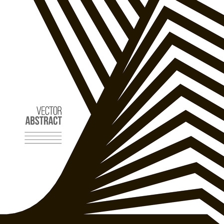 Geometric Vector Black and White Background. Architecture and Construction Concept. Avant-Garde Style Çizim