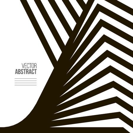 arte optico: Geometric Vector y Negro Fondo blanco. Arquitectura y concepto de la construcción. Avant-Garde Estilo Vectores