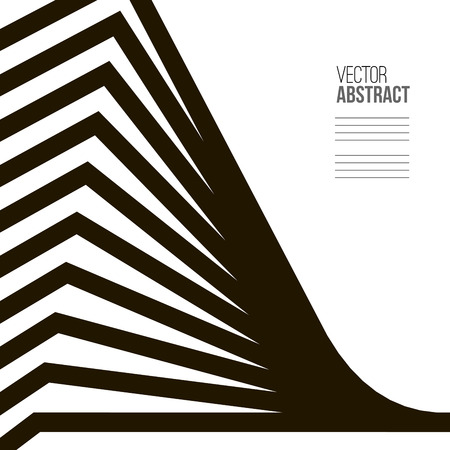 Geometric Vector Black and White Background. Architecture and Construction Concept. Avant-Garde Style Illustration