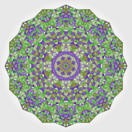 dominant color: Abstract Flower. Creative Colorful style vector wheel. Lilac Violet Green White Dominant Color