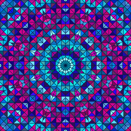 vintage colors: Abstract Colorful Digital Decorative Flower. Geometric Contrast Line Star and Blue Pink Cyan Color Artistic Backdrop