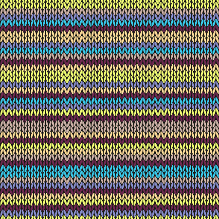 cotton wool: Seamless knitted pattern. Multicolored repeating tribal template