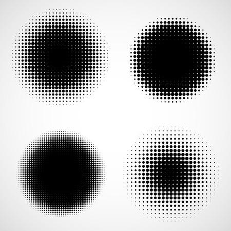Abstracte Halftone Achtergronden. Vector Set Geïsoleerde Modern Design Element Stockfoto - 34415526