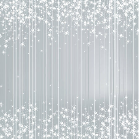 original sparkle: Bright Silver Background with Stars. Festive Design. New Year, Christmas, Wedding Style