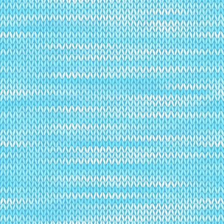 Style Seamless Knitted Melange Pattern. Blue White Color Vector Illustration Vector