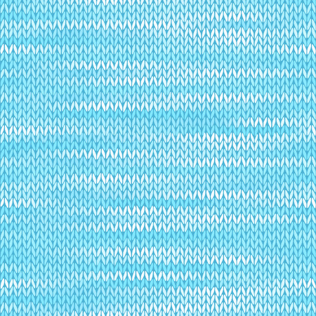 Style Seamless Knitted Melange Pattern. Blue White Color Vector Illustration Vector