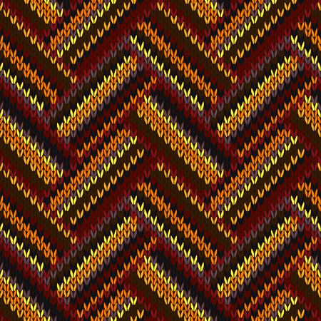 color swatch: Seamless Knitted Pattern. Yellow Orange Red Brown Grey Color Swatch Illustration