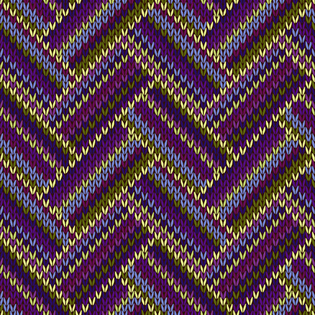 color swatch: Seamless Knitted Pattern. Blue Violet Green Color Swatch Illustration