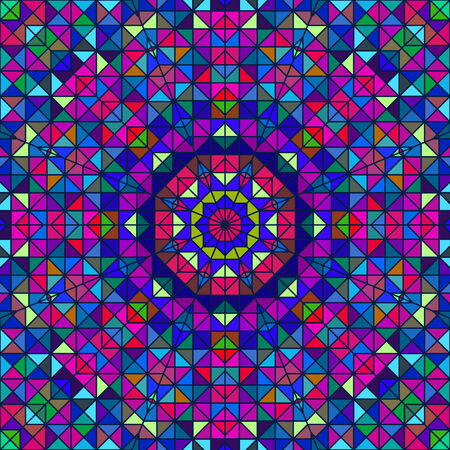 pink green: Flor colorida abstracta digital decorativo. Contraste Geometric Star Line y Azul Rosa Color Verde art�stico Vectores