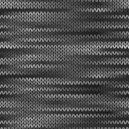 stockinet: Style Seamless Knitted Melange Pattern. White Grey Color Illustration