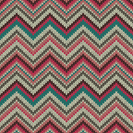 spokes: Seamless geometric ethnic spokes knitted pattern. Red white green color knitwear sample