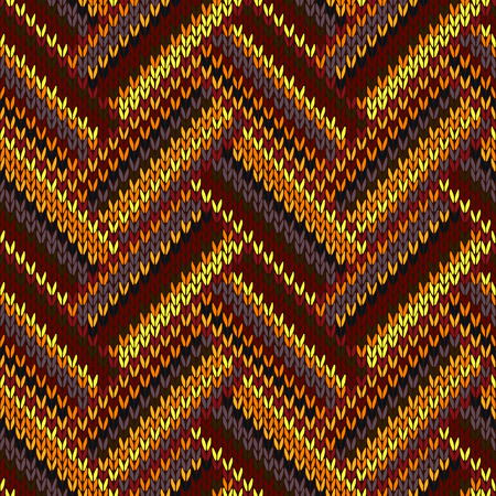 color swatch: Seamless Knitted Pattern. Yellow Orange Red Brown Grey Black Color Swatch Illustration