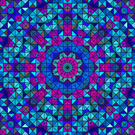 Abstract Colorful Digital Decorative Flower. Geometric Contrast Line Star and Blue Pink Cyan Color Artistic Backdrop