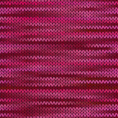 Style Seamless Knitted Melange Pattern. Pink Magenta Color Vector Illustration Vector