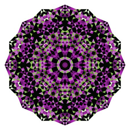 dominant color: Abstract Flower. Creative Colorful style vector wheel. Lilac Violet Green Pink White Black Dominant Color Illustration