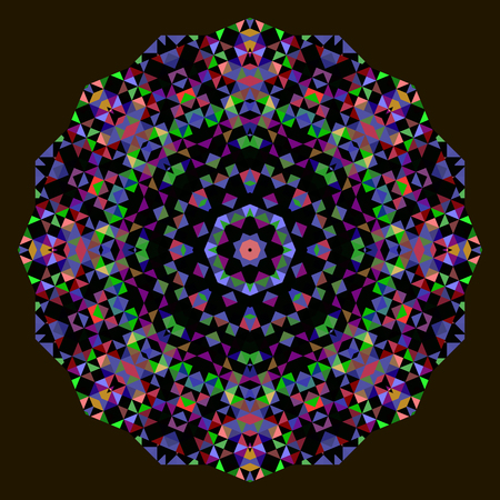 dominant color: Abstract Flower. Creative Colorful style vector wheel. Red Orange Blue Green Black Dominant Color