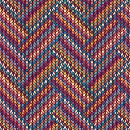 wool texture: Knitted Seamless Red Blue Pink Yellow Violet Orange Green Ornamental Striped Pattern