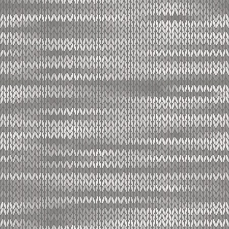 stockinet: Style Seamless Knitted Melange Pattern. White Grey Color Illustration