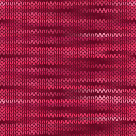 checkered scarf: Style Seamless Knitted Melange Pattern. Red Color
