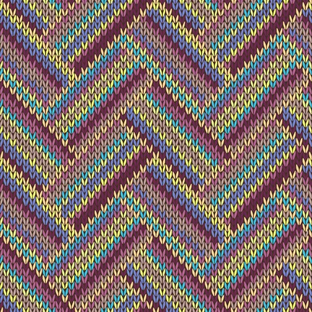 wool texture: Seamless knitted pattern. Multicolored repeating tribal template