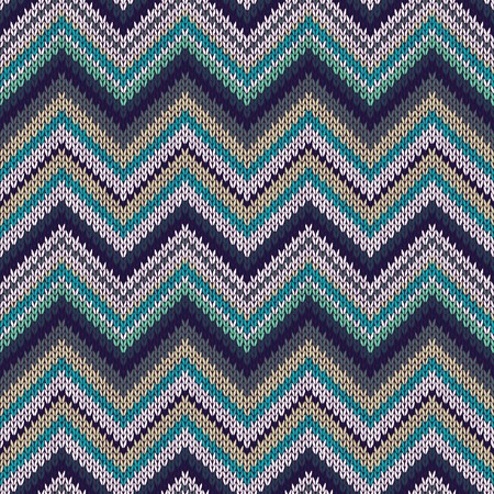 topical: Seamless geometric spokes knitted pattern. Blue white beige green color knitwear sample