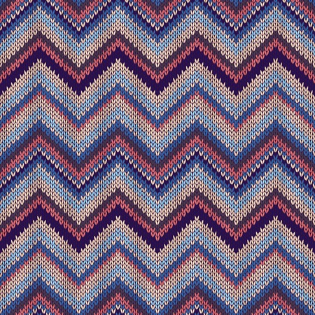 spokes: Seamless geometric ethnic spokes knitted pattern. Blue white orange red color knitwear sample Illustration