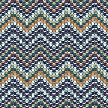 knitwear: Seamless geometric spokes knitted pattern. Green white beige orange color knitwear sample Illustration