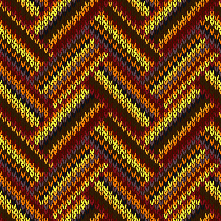 color swatch: Vector Seamless Pattern. Knitted Yellow Orange Red Brown Grey Black Color Swatch