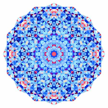 tapis: Abstract colorful circle backdrop. Geometric vector mandala. Mosaic banner of geometric shapes