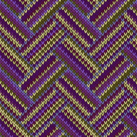 color swatch: Multicolored Seamless Spring Knitted Pattern. Green Lilac Color Swatch Illustration