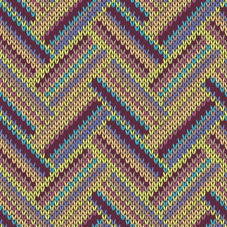 knitted: Seamless knitted pattern. Multicolored repeating tribal template