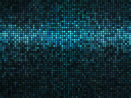 Abstract mosaic background. Square pixel mosaic. Lights blue disco texture