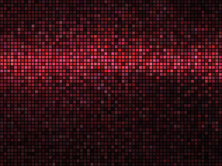 Abstract mosaic background. Square pixel mosaic. Lights red disco texture