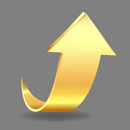 upward movements: Gold arrow Illustration
