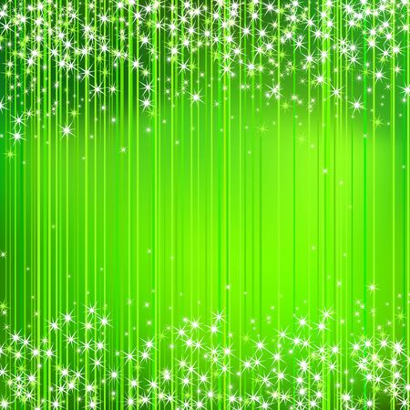 stripped: Abstract Green Stripped Background with Stars Illustration