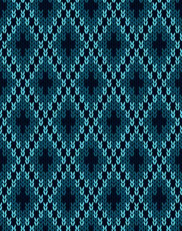 tejidos de punto: Patr�n Textil. Prendas de punto sin costuras Vectores