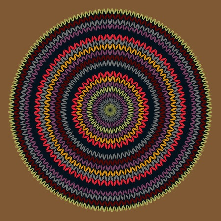Style Circle Simple Color Needlework Background, Ornamental Round Knitted Pattern Ilustracja